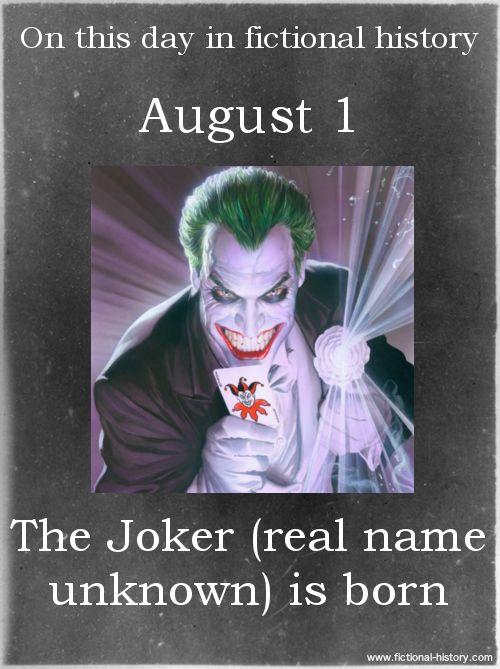 (Source) Name:The JokerBirthdate:August 1Sun Sign:Leo