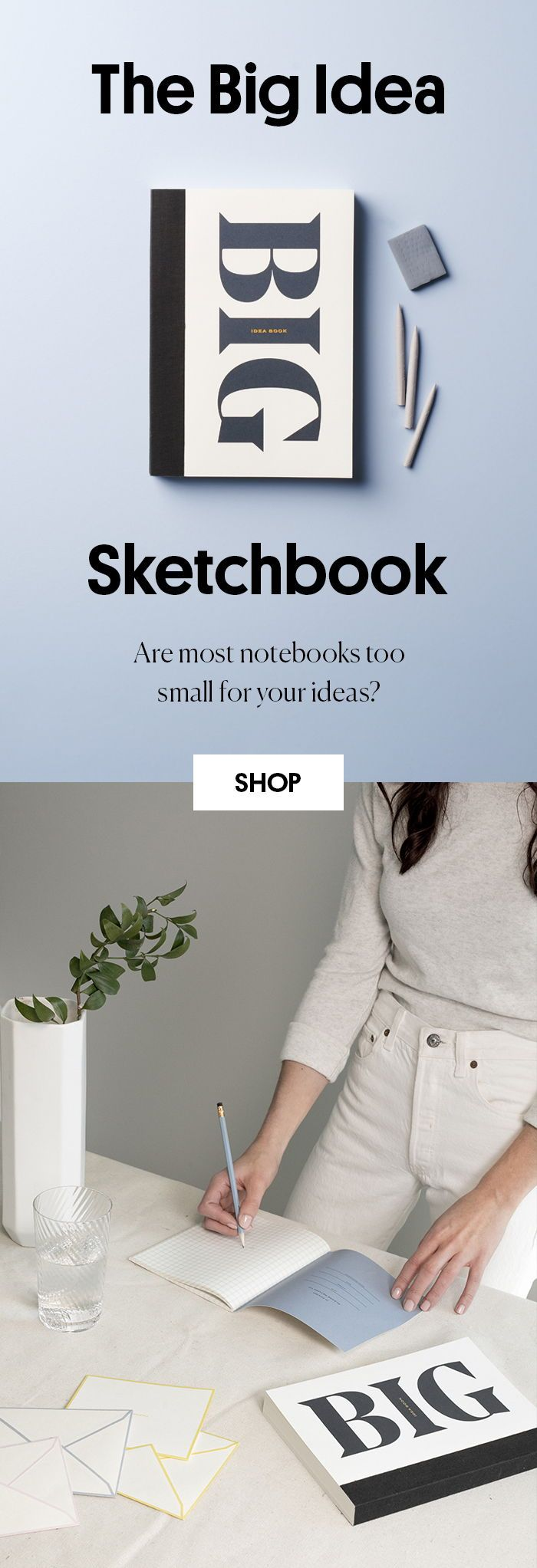 Are Most Notebooks Too Small For Your Ideas The Big Idea Sketchbook Has Got You Covered Oversized With Blank C Sketch Book Wit And Delight Pretty Stationery