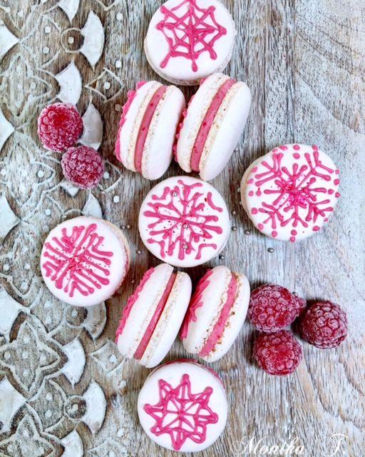 Macarons mit Himbeeren – Mascarponecreme