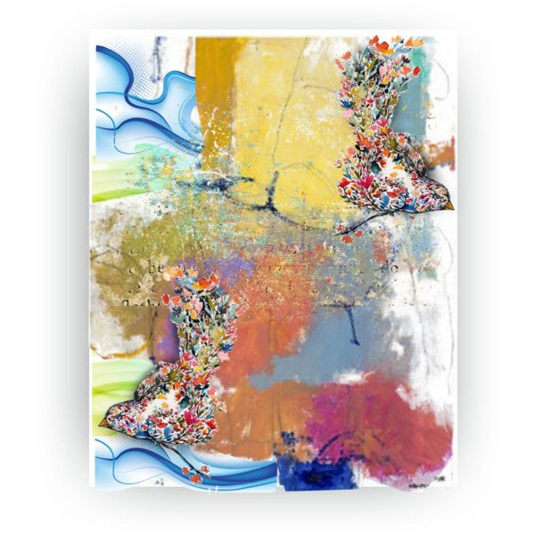 Abstract with Birds.. by vkevans on Polyvore featuring art and vkevans