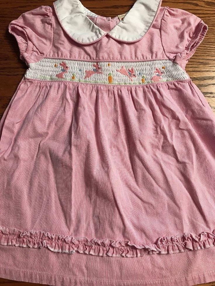 Toffee Apple Toddler Girls Size 3T Easter, Bunny Smocked Short Sleeve Dress EUC    eBay