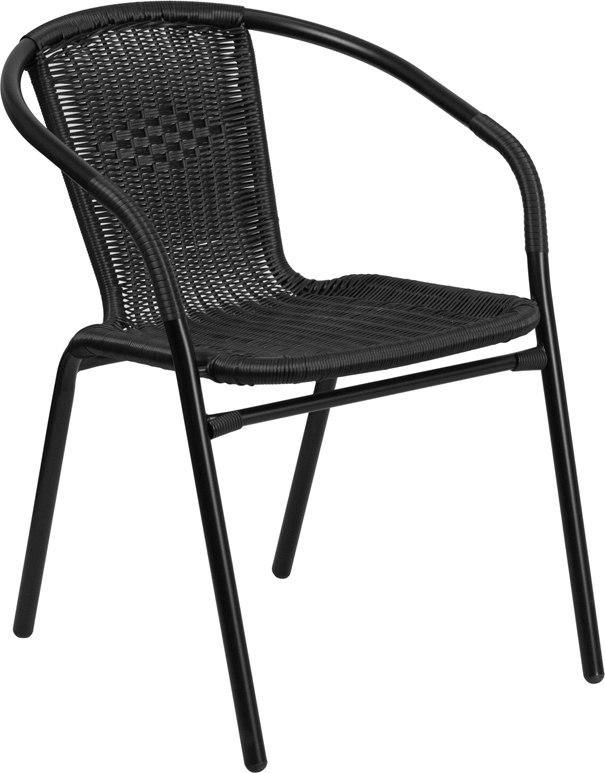 flash furniture tlh 037 bk gg black rattan indoor outdoor restaurant rh pinterest com