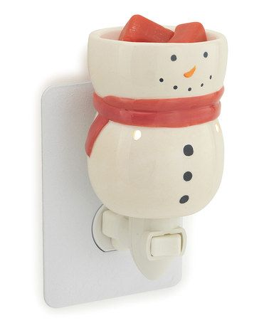 Super cute for x-mas!  Take a look at this White Snowman Plug-In Wax Warmer by Candle Warmers on #zulily today!