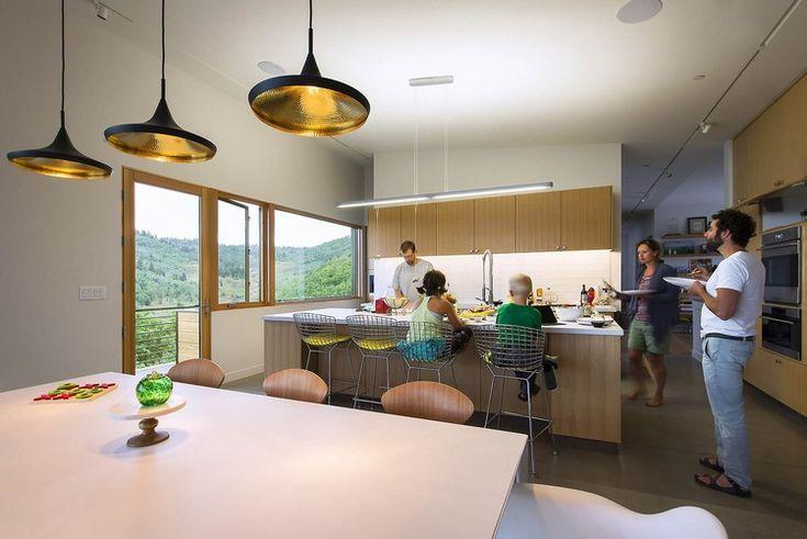 offene küche kücheninsel essbereich pendelleuchten #traumhäuser - pendelleuchte für küche