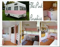 junk gypsy decorating ideas | The super cute Pink Paradise, A 1972 Frolic Travel Trailler/Camper ...