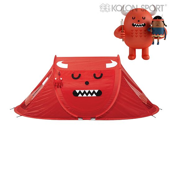 METI MONSTER 텐트 야외 설치 모습