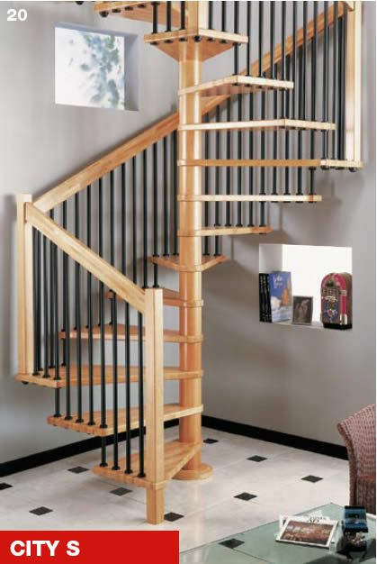 86 best images about loft stairs on pinterest spiral for Square spiral staircase plans