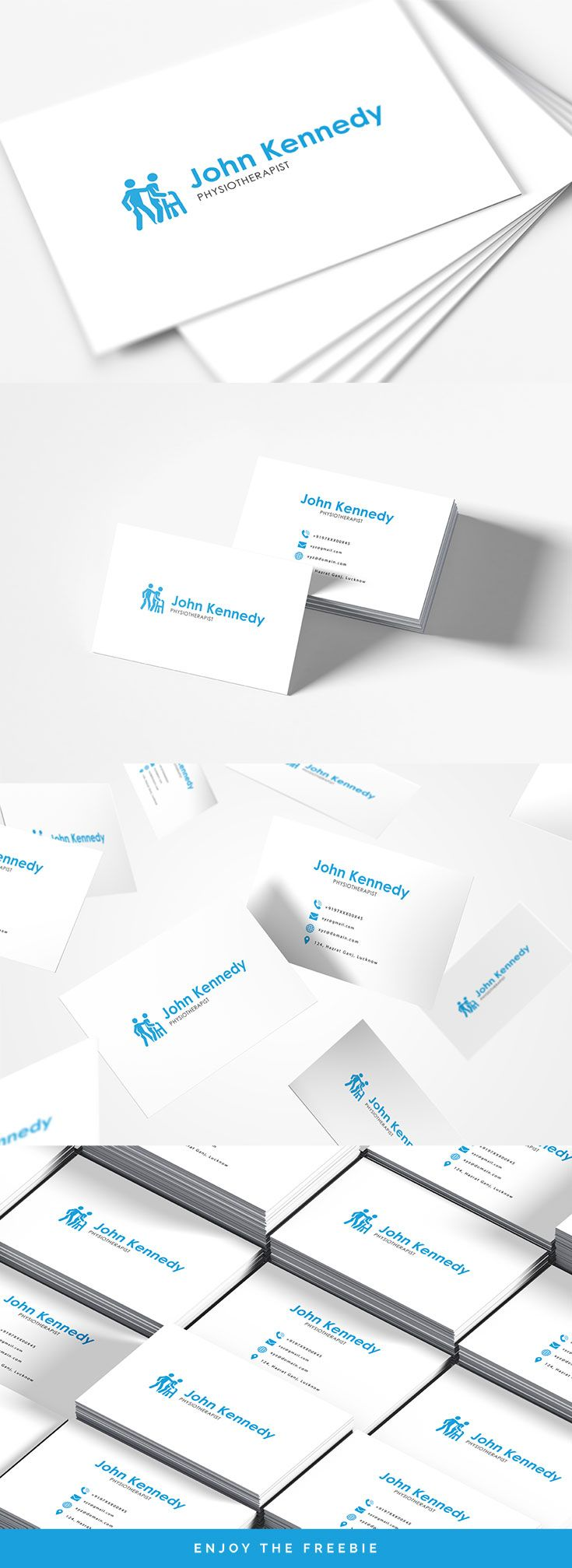 Free Physiotherapy Business Card Template Business Cards Creative Templates Physiotherapy Business Card Template