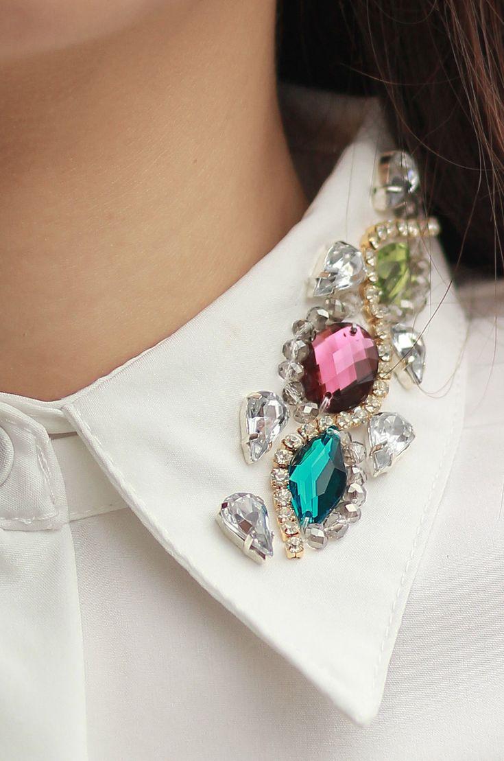 This is J   under the collar   thisisj.com   piedras preciosas en el cuello de la camisa