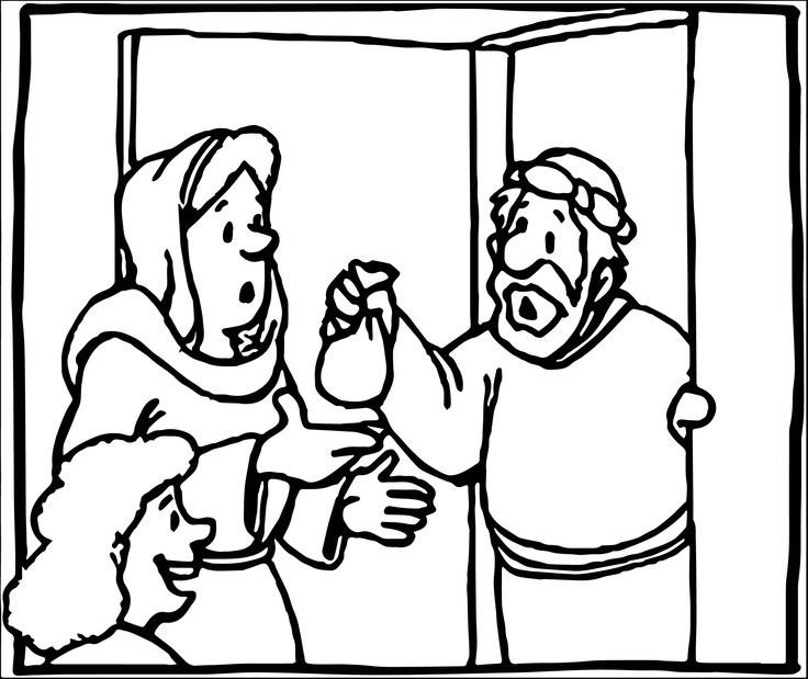franco zacchaeus coloring pages - photo#10