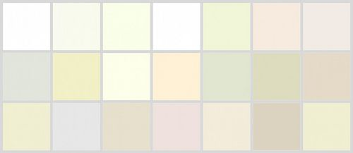 Farrow + Ball Whites + Off-Whites: Top Row, L to R: 'All-White', 'Wimbourne White', 'Pointing', 'James White', 'White Tie', 'Clunch' (one of my favorites), 'Strong White' -- Middle Row, L to R: 'Great White', 'House White', 'Tallow', 'Ringwold Ground', 'Slipper Satin', 'Lime White', 'Off-White'-- Bottom row, l to r: 'Dimity', 'Blackened', 'Skimming Stone', 'Conforth White', 'Shaded White', 'Stony Ground', 'New White'