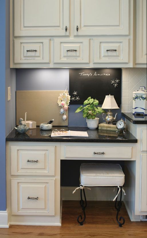 35 best images about office space s on pinterest for Kitchen office nook