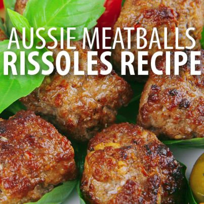 Learn how to make an Australian-style recipe for meatballs with Curtis Stone's Beef Rissoles Recipe and an amazing German-style potato salad with gravy.