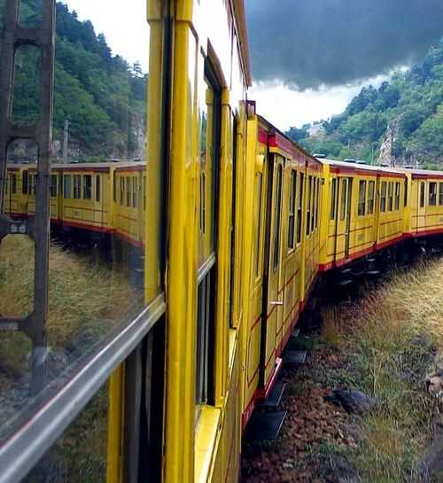 Yellow train  (Villefranche-de-Conflent, France)