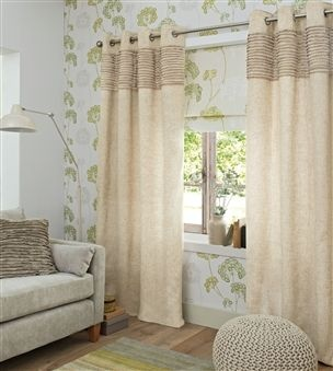 Buy Natural Ruffle Eyelet Curtains from the Next UK online shop