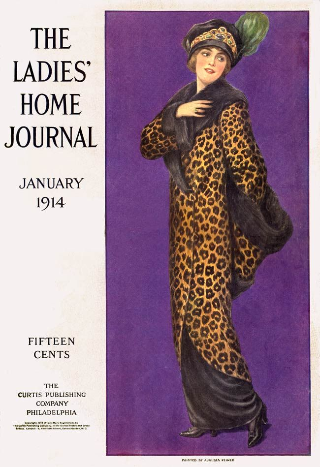 The Ladie's Home Journal 1914----Leopard print has been popular and chic for almost 100 years