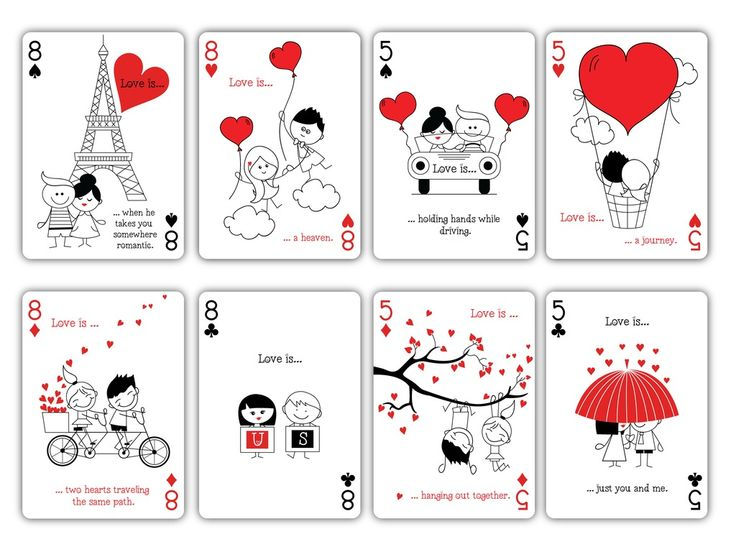 """""""Love is..."""" Playing Cards by Natalia Silva"""