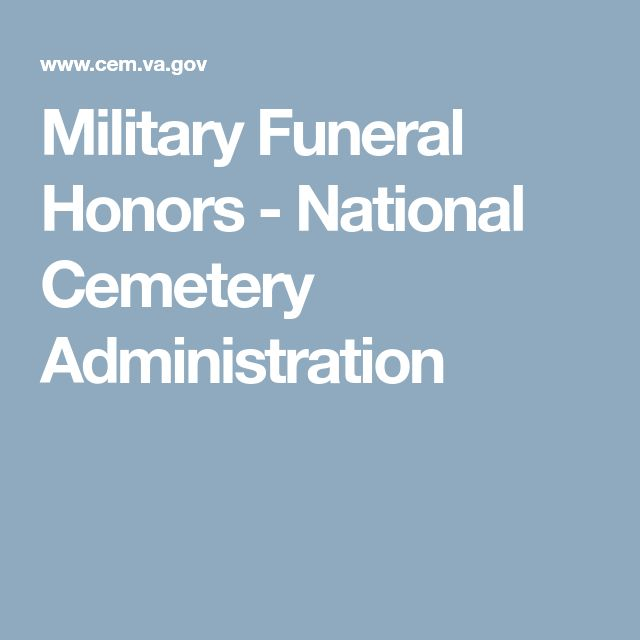 Military Funeral Honors - National Cemetery Administration