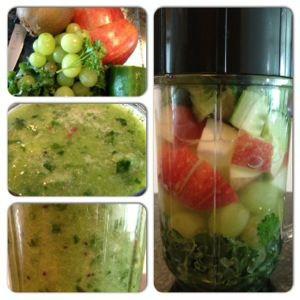 Green Smoothie - kale, grapes, kiwi, parsley, cucumber, apple | i need ...