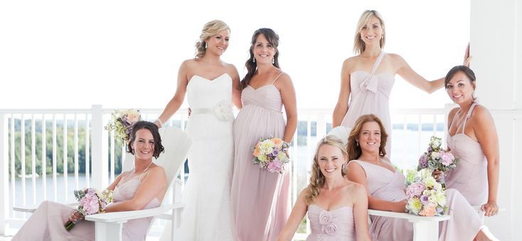 Erin & Her Girls l Photography by 5ive15ifteen Photo Company l Erin's beautiful bridesmaids are wearing Amsale Bridesmaids in Opal available at Pearl Bridal House.