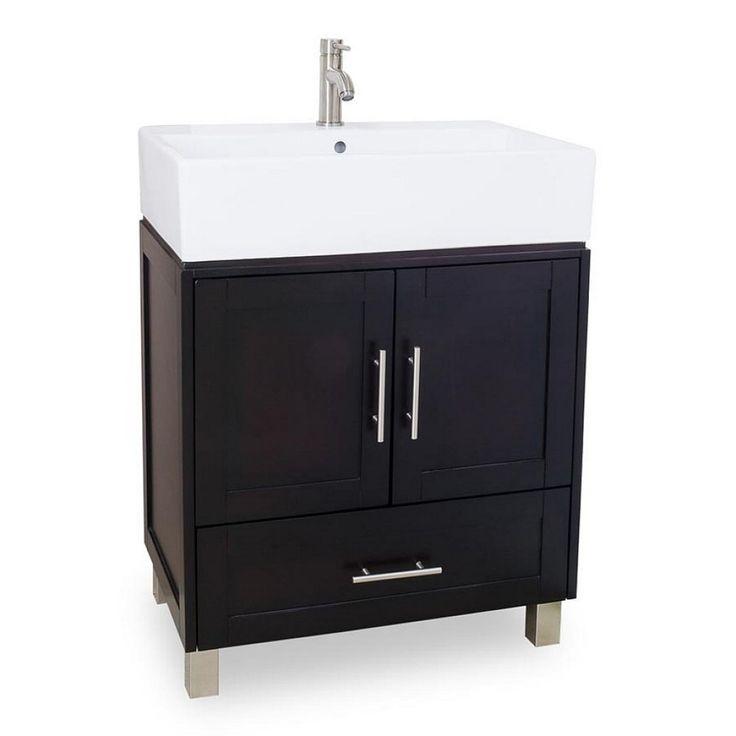 bathroom floor cabinet black