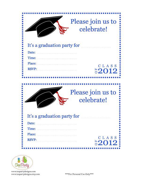 260 best Graduation Party images on Pinterest Graduation parties - graduation invitation template