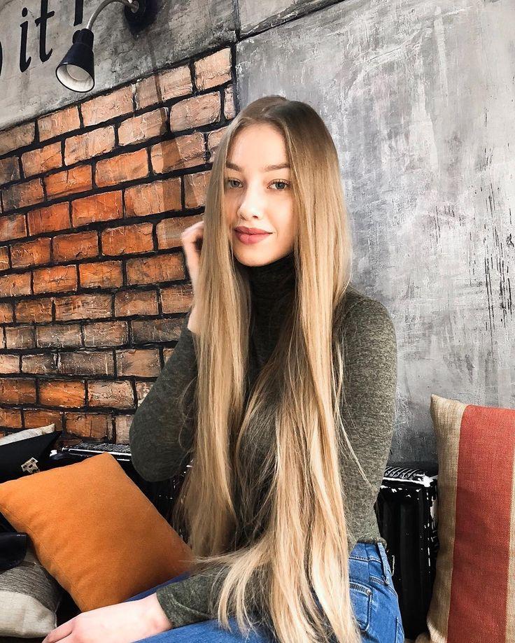 тонкие длинные волосы фото красиво ли это замечено, что практически