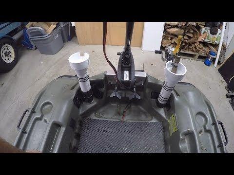 Pelican Bass Raider Modifications Pole Holders Youtube Fishing