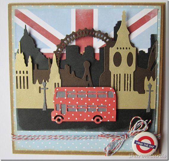 London scene - Mind the Gap! using Docrafts Build a Scene dies www.glitterangel.typepad.com