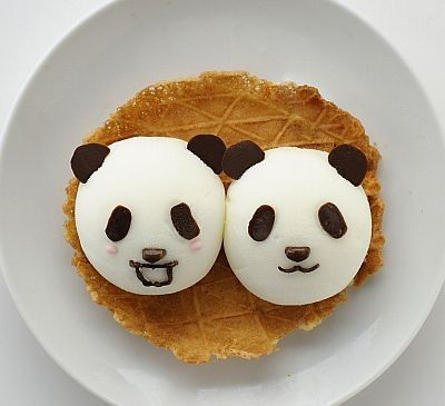 Cream panda
