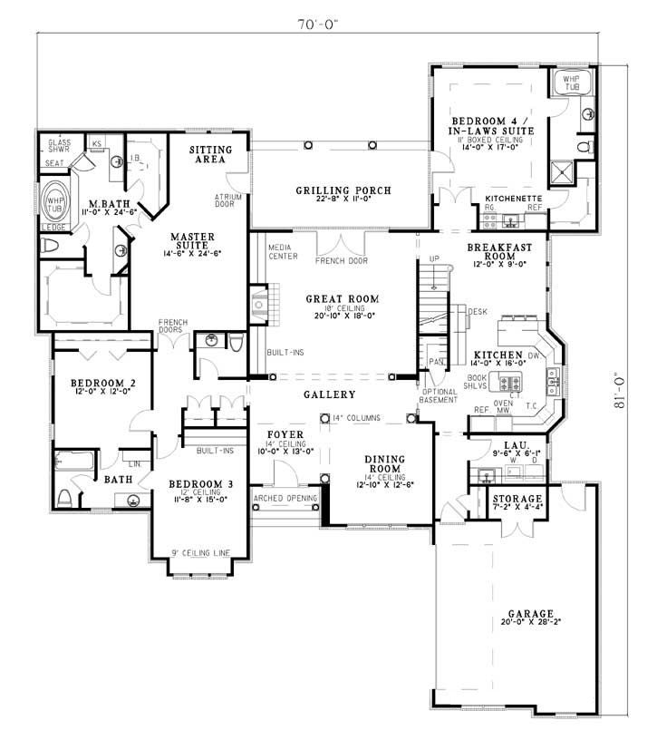 Linden avenue house plan 7094 with in laws quarters for House plans with inlaw quarters