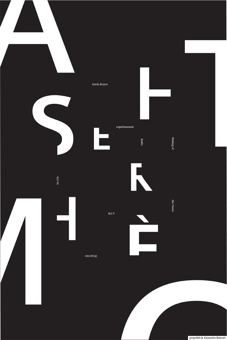 me, myself and YOU: AFFICHE TYPOGRAPHIQUE