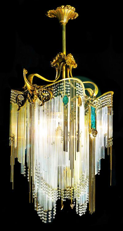 Hector Guimard chandelier: Hector Guimard, French Art, Art Nouveau, Chandeliers, Interiors Design, Lighting Fixtures, Artnouveau, Artdeco, Art Deco