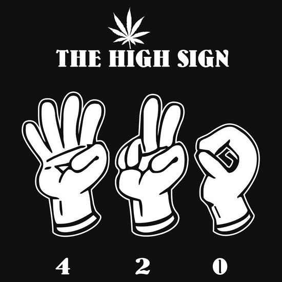 The High Sign | Unisex T-Shirt | Cannabis Apparel | Pinterest | Cannabis, Weed and Weed humor