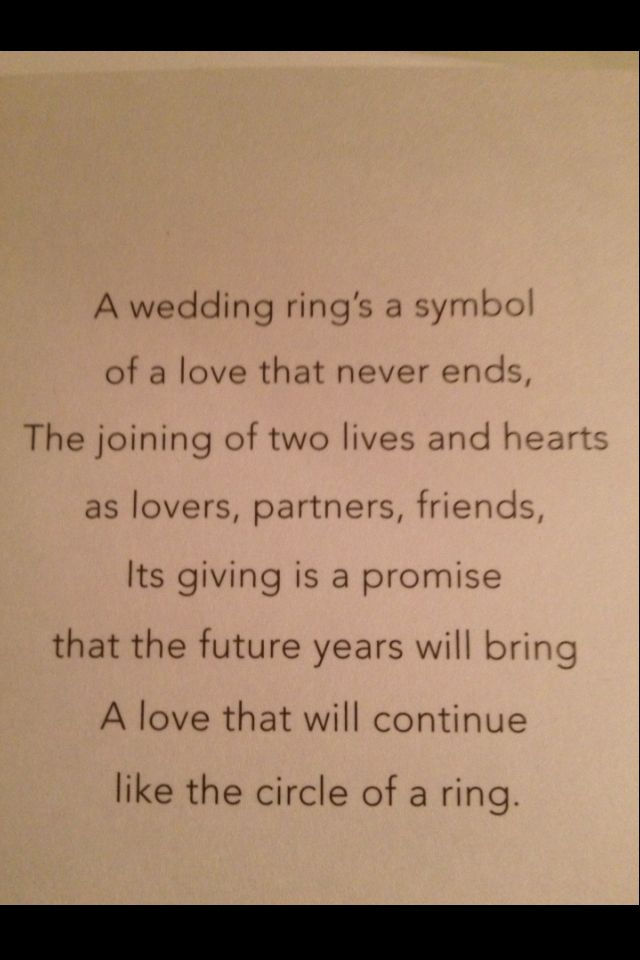 something very similar was said at our vow renewal