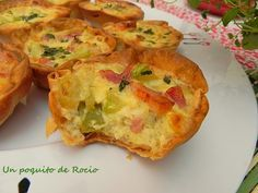 Mini quiches de calabacín y bacon