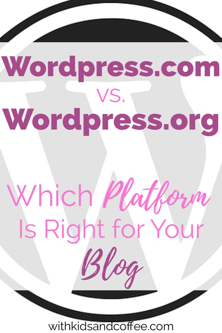 Wordpress.com vs. Wordpress.org: Which platform is right for your blog? | There are key differences between Wordpress.org and Wordpress.com. Every new blogger needs to learn these differences before starting a blog.