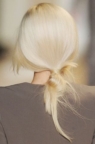 Nice Buns: The loosely tied loop is relaxed, yet just pulled together enough for date night