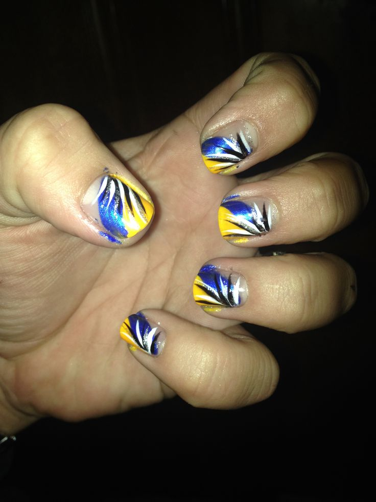 39 best my nail designs images on pinterest nail art ideas nail st louis blues color nail design gold blue tipped prinsesfo Choice Image