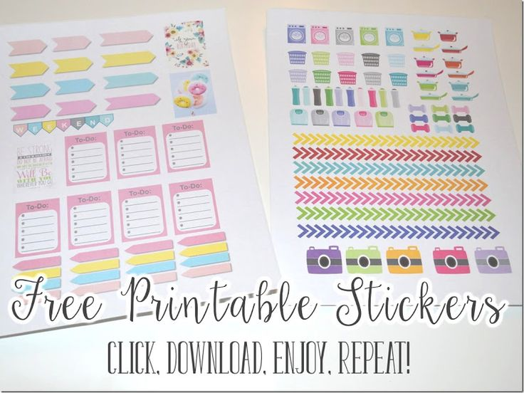 How to Make Planner Stickers + Free Printables