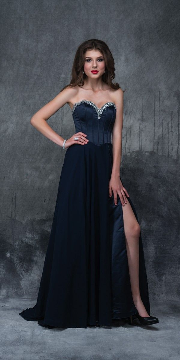 Long Nina Canacci Corset Prom Dress. Colors: Burgundy, Navy . Size: 4-12