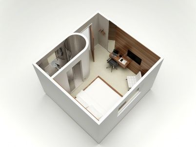 Compact Guest Quarters - Adapt from Hotel Floor Plan