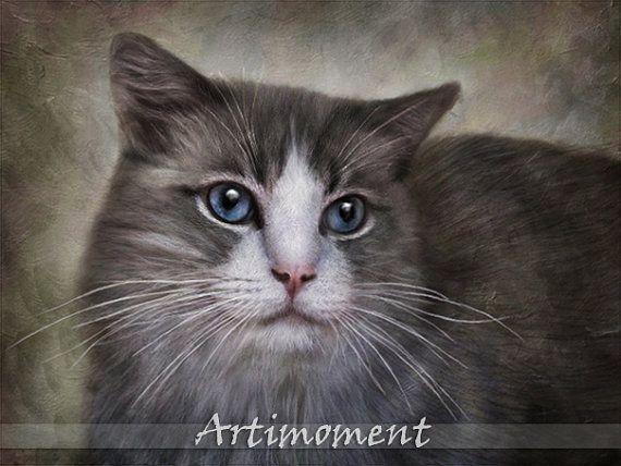 custom pet portrait- For more, please visit www.artimoment.com