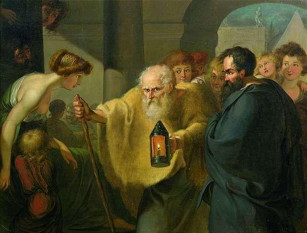 Diógenes de Sinope: - Antístenes fue discipulo de Socrates y fundador de la escuela Cínica(Aja, asi como lo oyen) y este fue maestro de Diogenes.
