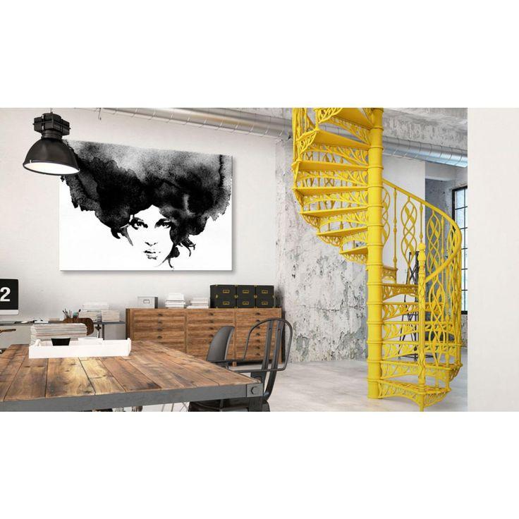Un ritratto in bianco e nero sarà una perfetta decorazione di un ambiente moderno - ad esempio in stile industriale  #ritratto #stampa #quadro #artgeist #bianconero #blackwhite #quadrobianconero