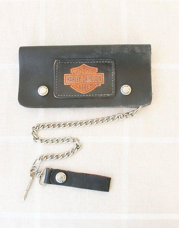 Vintage Harley Davidson wallet Leather bifold by VintageCorner42