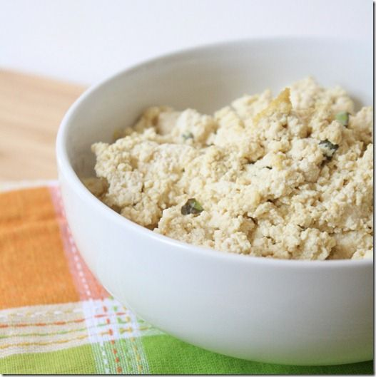 """Tofu """"Ricotta"""" Cheese, for vegans dreaming of stuffed shells and lasagna. ;)  Aaron and I used this on lasagna tonight.  Fantastic replacement.  Definitely recommended. :D"""