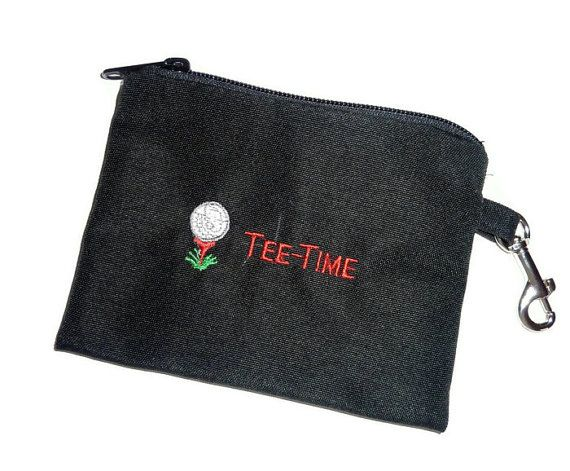 Golf Accessory Bag  Tee Time by bagsbybrenda on Etsy