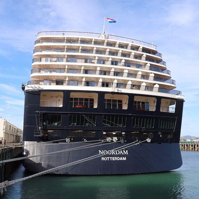 Noordam at Queens Wharf in Auckland, New Zealand #noordam #cruiseship #queenswharf #auckland #newzealand