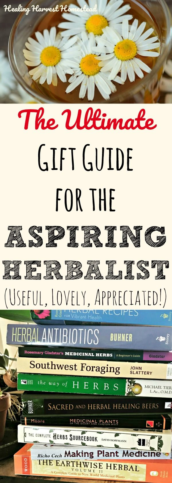 Do you or a friend wish to become an herbalist? Or maybe they (or you) already are? Are you wondering what to get that person as a gift? Here are my best ideas for gifts for the person who is or wants to be an herbalist. Herbal education, courses, books, supplies....it's all here in this gift guide for the aspiring herbalist!